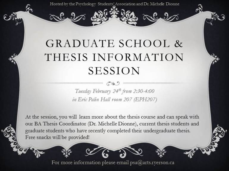 Graduate School & thesis information Session