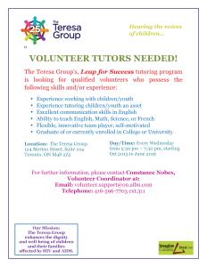 Volunteer Tutor Poster