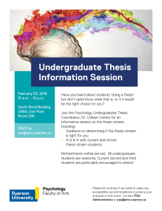 Thesis Info Session 2016