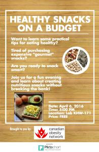 Healthy Snacks on a Budget Event