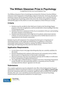 William Glassman Application 15-16
